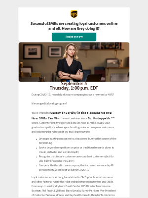 UPS - Don't Miss UPS Webinar: Customer Loyalty in the E-commerce Era: How SMBs Can Win