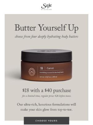 Saje Natural Wellness - Butter yourself up