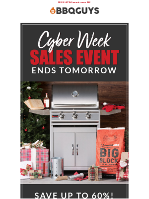 😲 Last chance to save on Cyber Week deals!