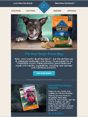 Blue Buffalo - BOO! They're back: Tasty BLUE Boo Bars™ for Rocky!