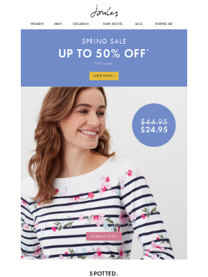 Joules (US) - Top-notch tops in our up to 50% off Spring Sale