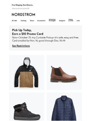 Nordstrom - Going outside this fall? Get ready