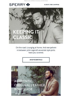 Sperry - John Legend's style essentials.