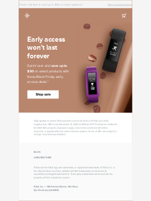 Fitbit - Don't miss out on early access