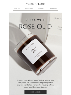 VenusETFleur - An all-new luscious and lavish scent.