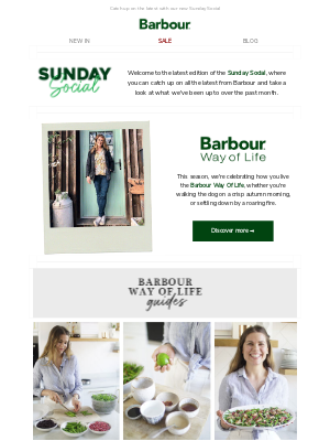 Sunday Social   Our guide to living the Barbour Way of Life