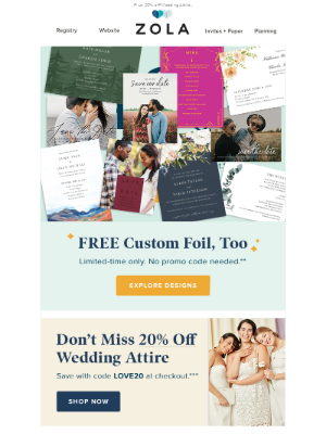 🎉40% off save the dates and invites + *free* foil
