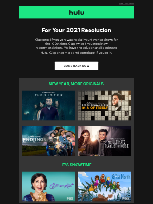 Hulu - Mailcharts John, We've Brought You Something...
