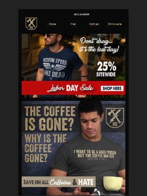 Ranger Up Military and MMA Apparel - It's the Last Day to Save!