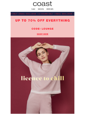Coast Stores (UK) - For the love of lounging | Extra 10% off