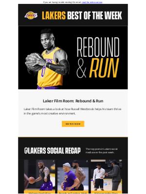 Los Angeles Lakers - Lakers Best of the Week: Rebound and Run