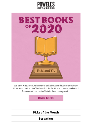 Powell's Books - The best books of 2020 start here: Kids' and YA