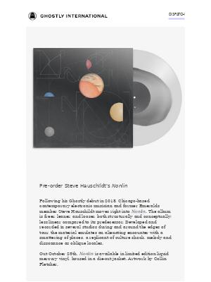 [Dispatch] Steve Hauschildt announces new LP Nonlin