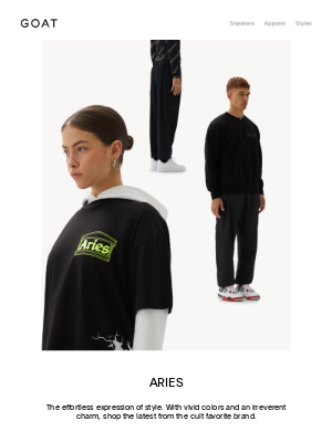 GOAT - New for SS21: The Aries Collection
