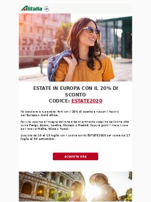 Alitalia (Italy) - Estate al 20% di sconto? 😍