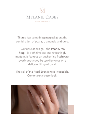 Melanie Casey - Another new (and alluring) design for you!