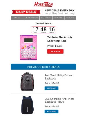 HobbyTron - $5.95 -Tableta Electronic Learning Pad