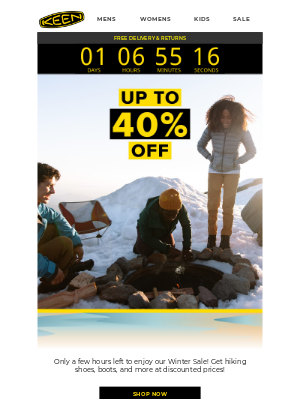 KEEN - Time is running out... Save up to 40% off!
