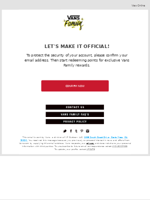Vans - Confirm your email