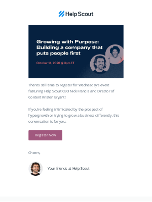 Help Scout - Live on Wednesday: Growing with Purpose