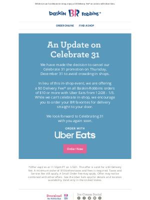 Baskin-Robbins - An Update on Celebrate 31