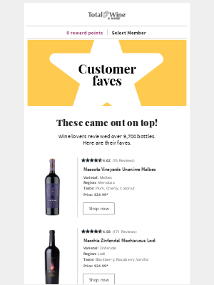 Total Wine & More - 4+ Star Reds ⭐ Plus Coupon