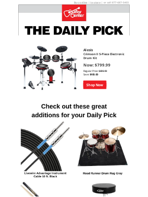 Guitar Center - The Daily Pick: Save $100 today only