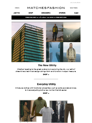 Matches Fashion (UK) - Utility wear for country and city