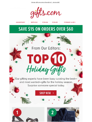 gifts - $15 Off. Our Gifting Experts Have Spoken!