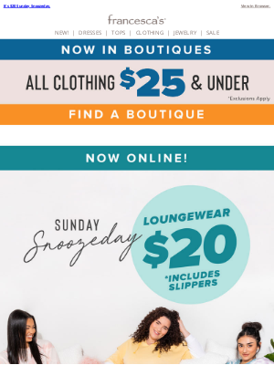 francesca's - Don't Hit SnoozeOn This $20 SALE!💤
