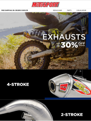 MotoSport - Exhaust Deals On All Your Favorite Brands