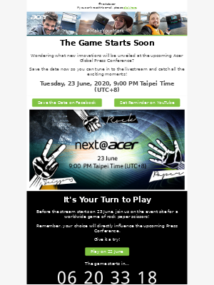 Acer - You're invited to play rock✊ paper✋ scissors✌ with Acer!