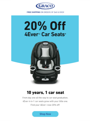 Graco Baby Products - About that 4Ever Car Seat you wanted...