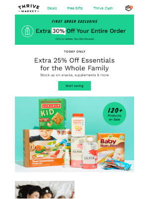 Family SALE! Extra 25% off