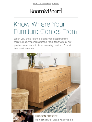 Room & Board - How to feel good about furniture shopping