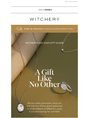 Witchery (AU) - OUR MOTHER'S DAY GIFT GUIDE.