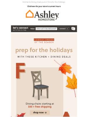 Ashley Furniture HomeStore - 🟠 Fall Into Savings on Dining Essentials