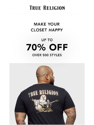 True Religion - Get Up To 70% Off Over 500 Styles! GO!