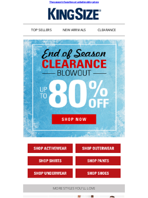 King Size Direct - 🎄 Open your gift early! Up to 80% off clearance blowout >>