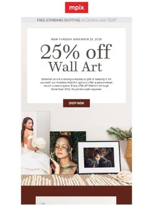 Mpix - Weekend Special: 25% off Wall Art →