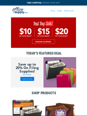 OfficeSupply.com - We're offering *this* deal + up to 20% off filing supplies!