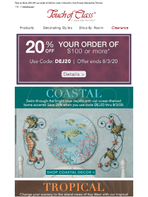 A surprise offer | Have a stay-cation with Coastal and Tropical Themed Home Accents