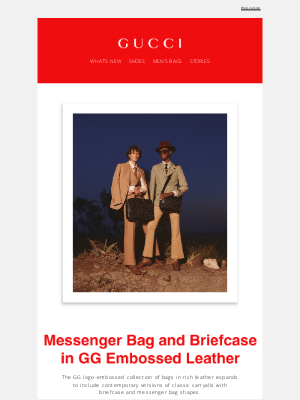 Gucci USA - The GG Briefcase and Messenger