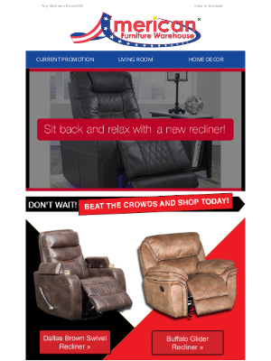 American Furniture Warehouse - Give the Gift of Relaxation! 🎁