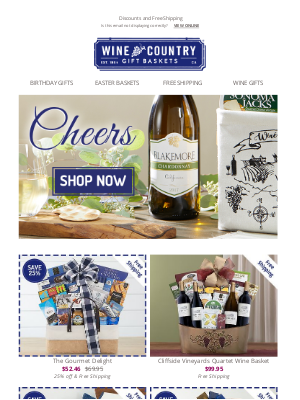 WineCountryGiftBaskets - Gifts for every occasion - up to 40% off