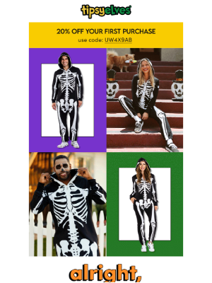 Tipsy Elves - skeletons, it's time to suit up 💀