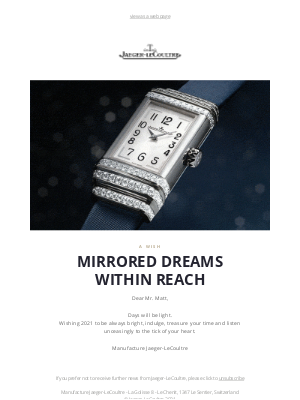 Jaeger-LeCoultre - Mirrored dreams within reach