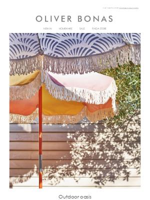Oliver Bonas - Outdoor oasis | The garden room edit
