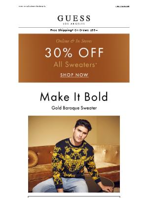 Win Sweater Season w/ 30% Off