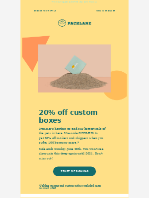 Packlane - ☀️ Sizzling Summer Sale: 20% off custom boxes